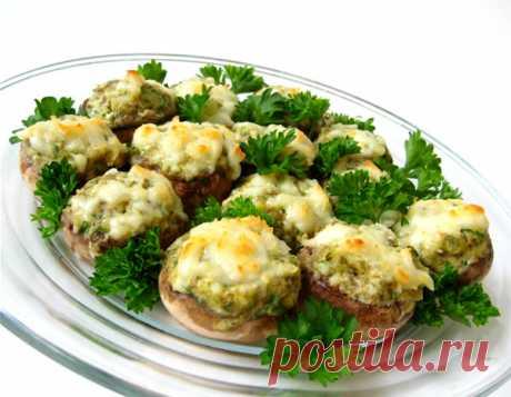Запеченные фаршированные шампиньоны | Закуски и бутерброды | La-Minute - Вкусные рецепты с фото и пошаговым приготовлением !