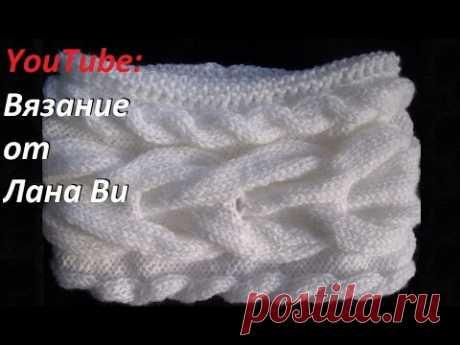 2 МК. Как связать шарф-снуд спицами. ДВОЙНОЙ вязаный шарф-снуд спицами. Вязание: снуды спицами