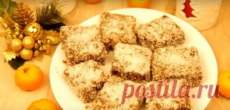 Пирожное зимний вечер с кокосовой стружкой/грец.орехами + шоколад