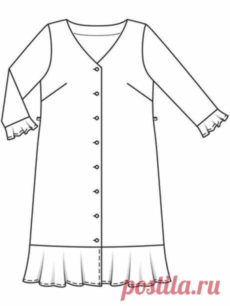 Платье-рубашка - выкройка № 124 B из журнала 3/2019 Burda – выкройки платьев на Burdastyle.ru