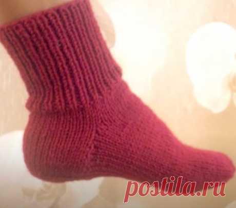Как связать носки на двух спицах. Подборка мастер-классов