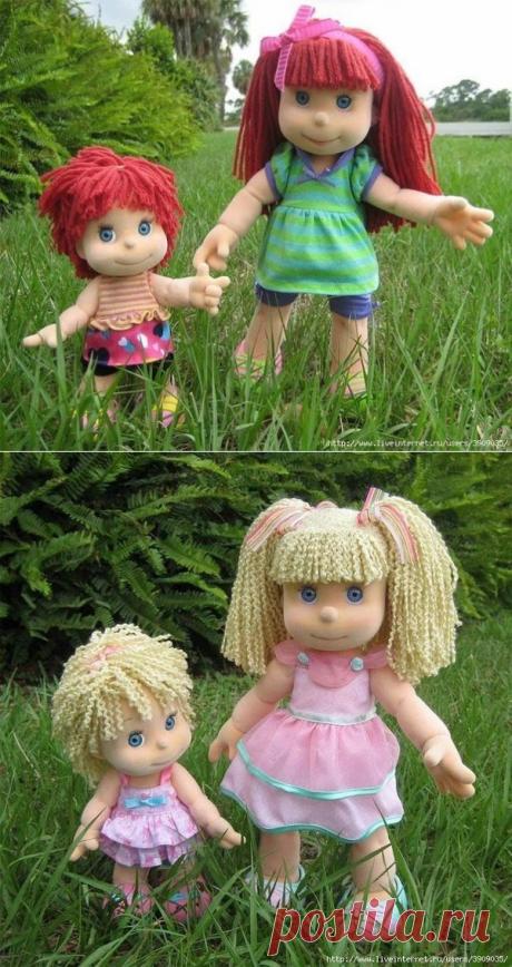 Текстильные куколы. Выкройка