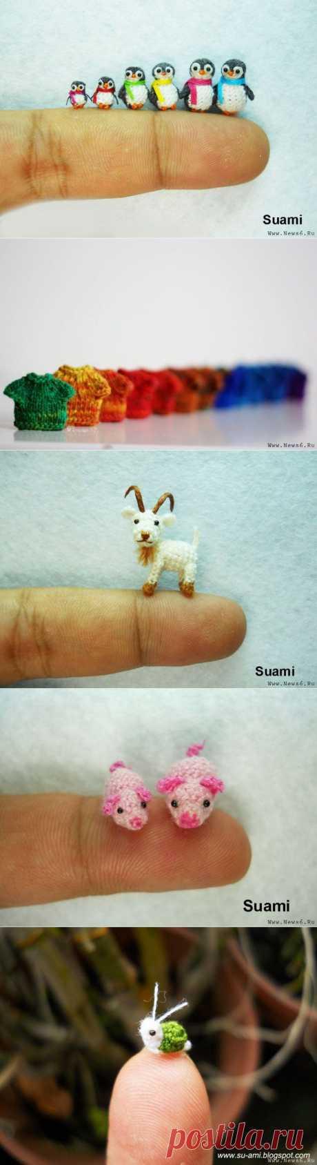 Невероятные миниатюрные вещи, связанные спицами и крючком