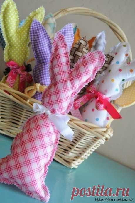 Шьём текстильных зайчиков — Поделки с детьми