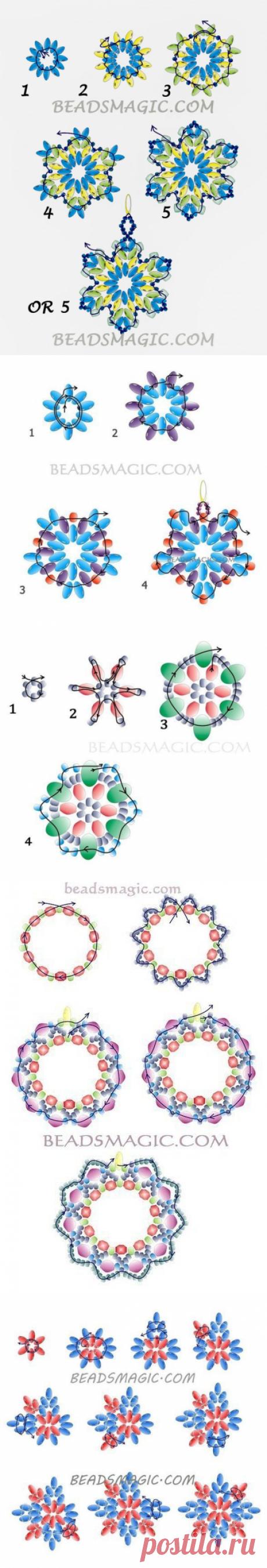Серёжки из бисера со схемами — Сделай сам, идеи для творчества - DIY Ideas
