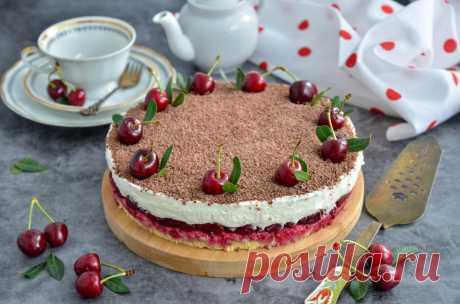 Вишневый торт Райское Наслаждение рецепт с фото пошагово и видео - 1000.menu
