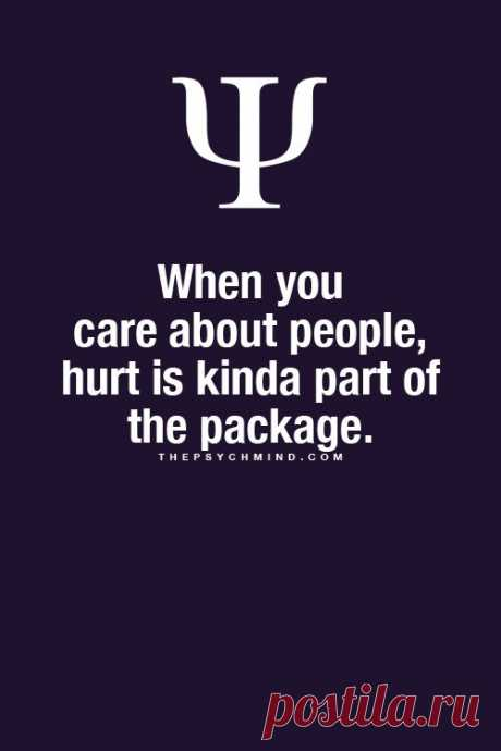 When you care about people...