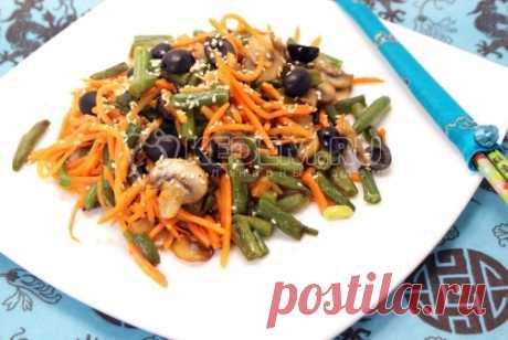 Салат с корейской морковкой «Вкусно и быстро» – Пошаговый рецепт с фото. Салаты. Вкусные рецепты с фото. Салаты с грибами