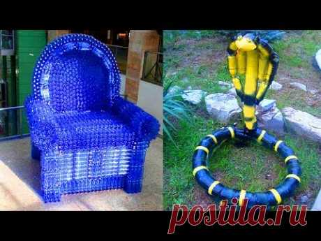 Hand-made articles from plastic butylok.crafts from plastic bottles.