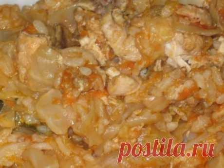 Курица (утка), тушенная с капустой - Обалденно вкусная ))) : Вторые блюда