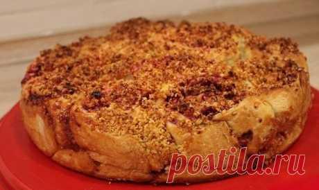 Пирог с яблоками, клюквой и цедрой апельсина — Sloosh – кулинарные рецепты