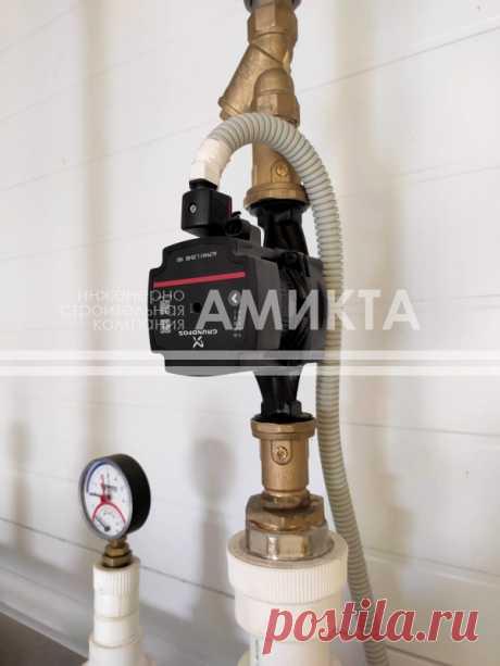 На фото - дополняющий мощный насос UPS 40-185 F популярный циркуляционный насос для систем отопления Grundfos (Дания) ALPHA1 L 25-60, https://amikta.ru/otoplenie/
