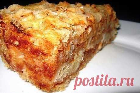 Самый вкусный сыпучий пирог с яблоками. Хит моей свекрови Готовить проще простого! Ингредиенты: Тесто: 1 стакан муки 1 стакан сахара 1 стакан манки 1 пакетик разрыхлителя (сода не подойдет!) 1/2 пакетика ванильного сахара 1,5 кг — кисловатые яблоки