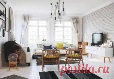 Скандинавский стиль в интерьере гостиной, правила оформления, элементы дизайна. Как обустроить гостиную в скандинавском стиле в квартире или в частном доме своими руками.