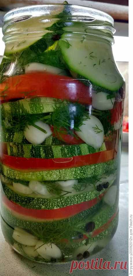 Маринованные кабачки с болгарским перцем на зиму. Пошаговый рецепт приготовления с фото