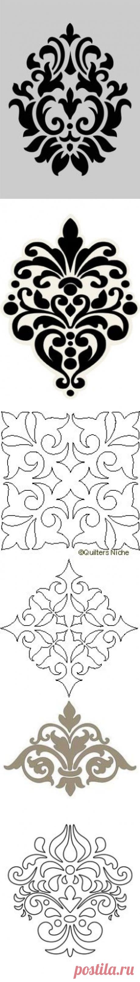 (162) damask baroque design template | Идеи