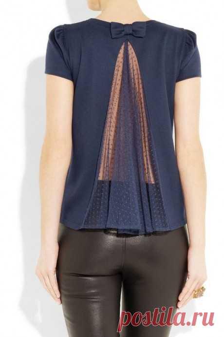 Блузки с оригинальными спинками: невероятные идеи