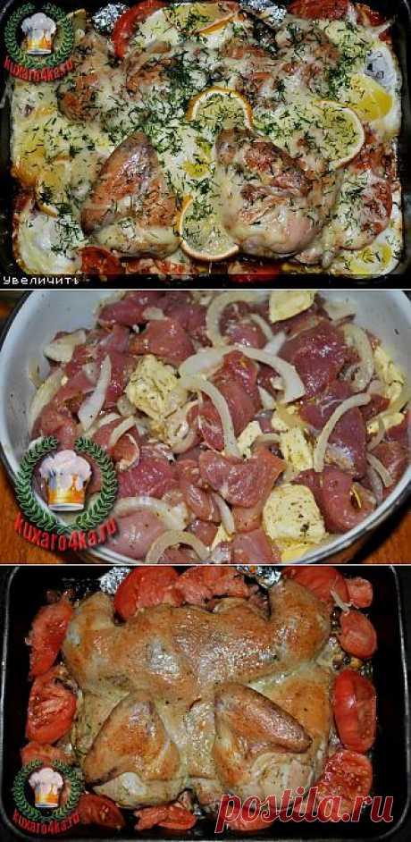 Цыпленок бройлер на свиной подушке «по-челябински»