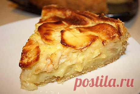 Вы забудете о шарлотке - меньше теста, больше начинки! Рецепт французского яблочного пирога