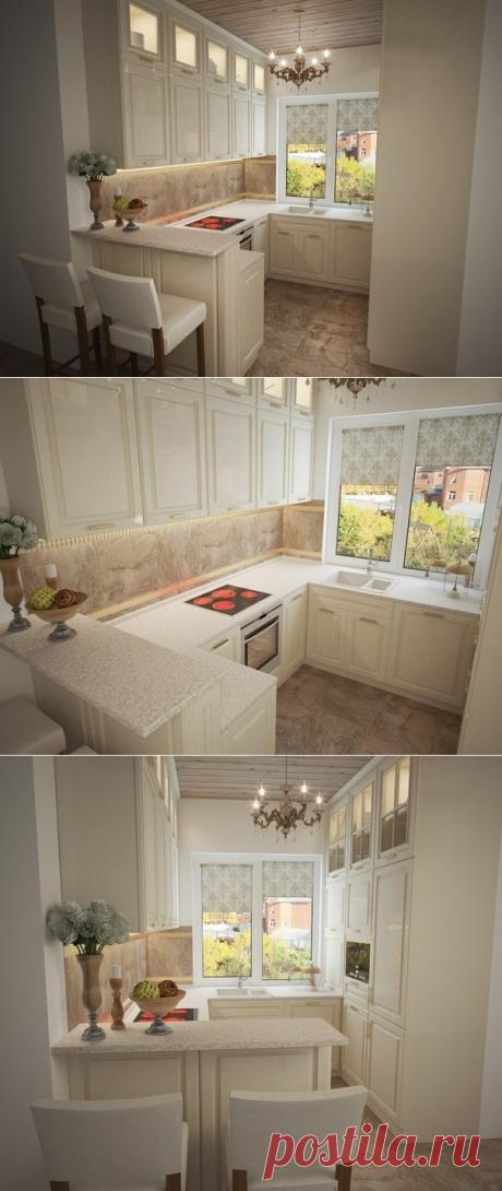 Кухня в загородном доме 6 кв.м. - Дизайн интерьеров   Идеи вашего дома   Lodgers