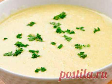 Сырный суп с плавленым сыром и курицей