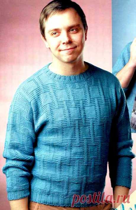 Pullover for men - Knitting by spokes for men - the Catalogue of files - Knitting for children
