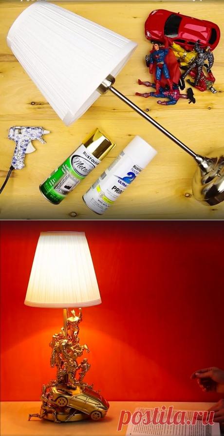 Лампа из старых игрушек: udav102