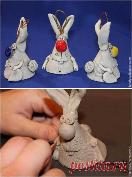 Сувенирные зайцы из глины (теста). Мастер-класс | ЖЕНСКИЙ МИР