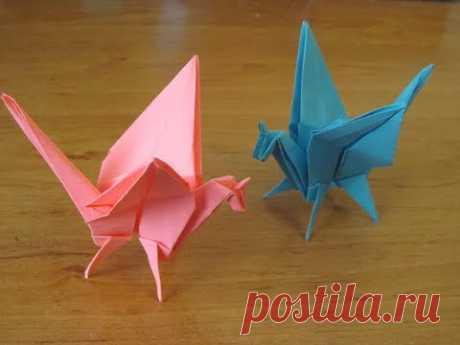 Как сделать единорога оригами, бумажный дракон единорог Paper Unicorn ORIGAMI DRAGON