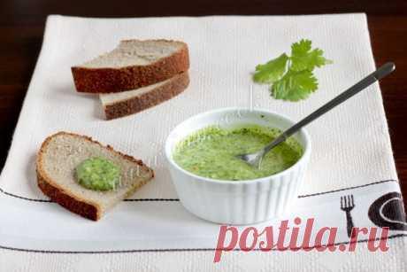 Зеленый соус к рыбе и мясу