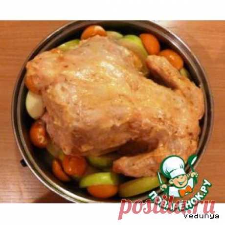 Курица, фаршированная по-еврейски - кулинарный рецепт