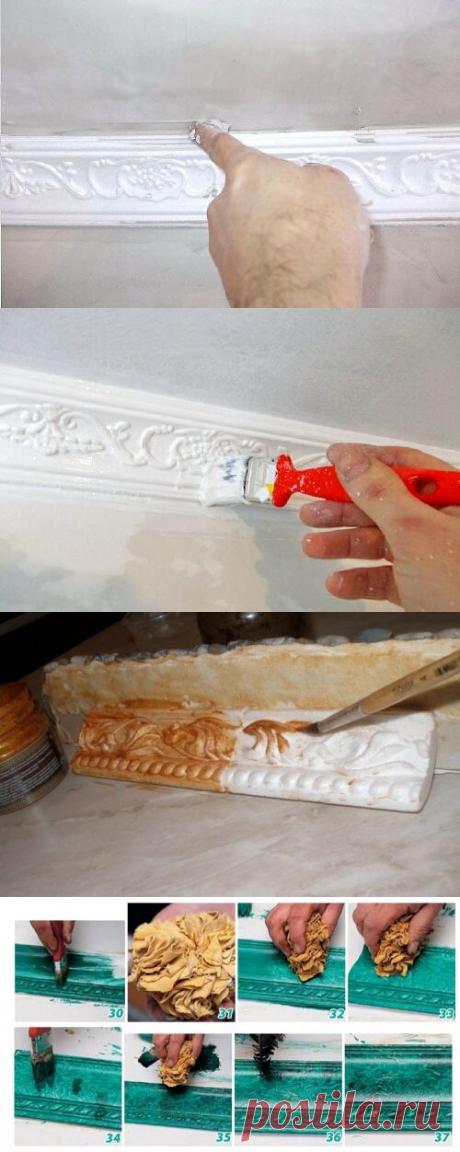 Как покрасить потолочный плинтус и зачем это делать — Самострой