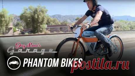 Phantom Bikes - Jay Leno's Garage Justin Bell joins Jay for a motorized bicycle race of epic proportions, pitting John King's touring model against his racer. Who will be the victor?» Subscri...