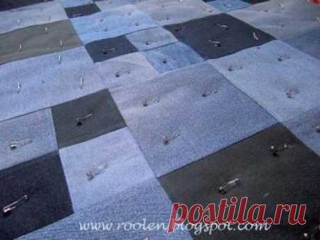 Джинсовый коврик Блог Марины Сохончук о лоскутном шитье