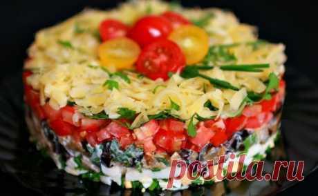 Вкусный и сочный слоеный салат с баклажанами «Безумный» - Вкусные рецепты - медиаплатформа МирТесен