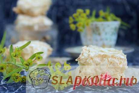 Песочное печенье с безе сверху в духовке в домашних условиях – рецепт с фото