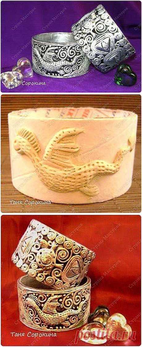 Серебряный браслет с драконом своими руками.