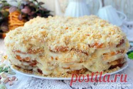 Ленивый Наполеон из печенья ушки рецепт торта