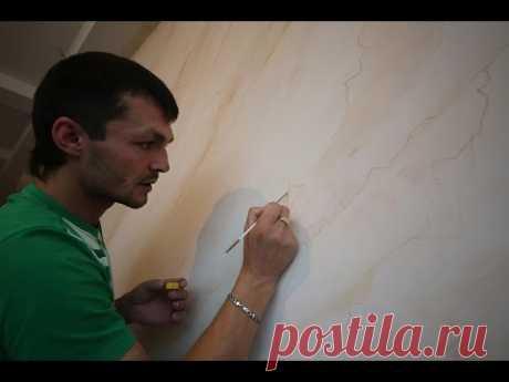 Нанесение венецианской штукатурки Creama bianco stucco veneziano