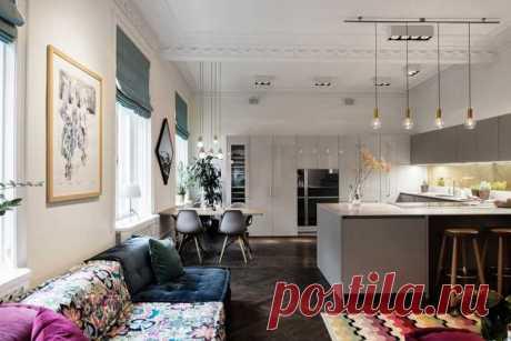 〚 Стильные апартаменты в Стокгольме 〛 ◾ Фото ◾Идеи◾ Дизайн Кухня в этой стильной и оченьпросторной квартирев Стокгольме просто загляденье!Выполнена в современном минималистичном стиле, она, тем не менее, ✌Pufikhomes - источник домашних вдохновений