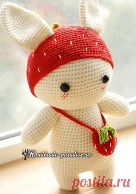 Amigurumi. Strawberry rabbit