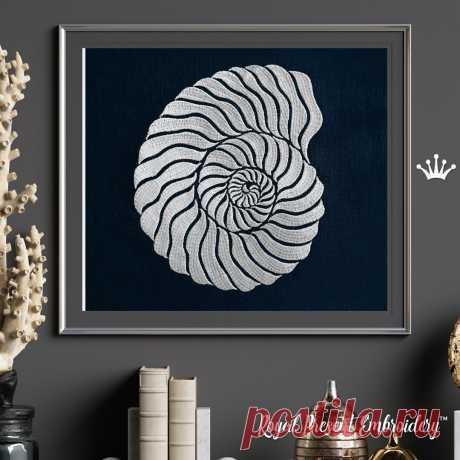 Спиралевидная Ракушка дизайн машинной вышивки