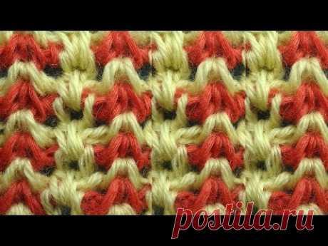 Красивый узор Тунисское вязание 44 Tunisian crochet tunisian