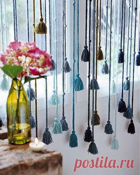 Необычные шторы: 30 дизайнерских решений | Журнал Ярмарки Мастеров