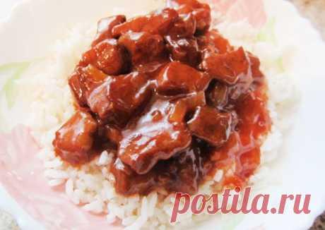 Свинина по-китайски в кисло-сладком соусе - не хуже, чем в китайском ресторанчике.