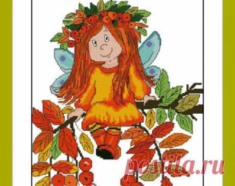 Autumn fairy. Digital Item Instant PDF Digital from 100patterns