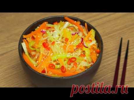 Рецепт: Фунчоза со свежими овощами, по-корейски