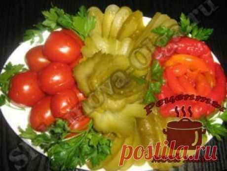 Оформление блюд - нарезка из овощей. Фото