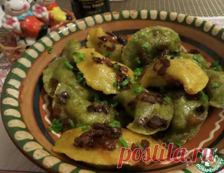 Постные кукурузно-шпинатные вареники на пару – кулинарный рецепт
