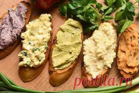 Пять вкусных намазок на хлеб/бутерброд | Вкусные кулинарные рецепты